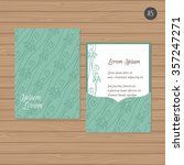 wedding invitation or greeting... | Shutterstock .eps vector #357247271