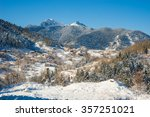 image of winter landscape in... | Shutterstock . vector #357251021