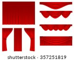 set of curtains | Shutterstock .eps vector #357251819