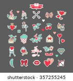 big set love. a collection of... | Shutterstock .eps vector #357255245