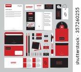 corporate concept identity... | Shutterstock .eps vector #357260255
