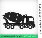 cement mixers truck flat vector ... | Shutterstock .eps vector #357279494