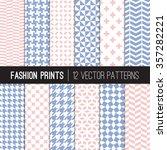 Pink Blue Fashion Prints...