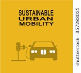sustainable urban mobility... | Shutterstock .eps vector #357283025