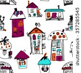 seamless pattern with sketched...   Shutterstock .eps vector #357285545