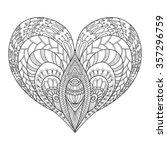 decorative love heart. vector... | Shutterstock .eps vector #357296759