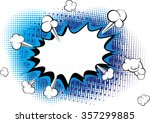 retro style blue comic book... | Shutterstock .eps vector #357299885