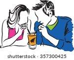 couple illustration    Shutterstock .eps vector #357300425