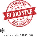 guarantee grunge stamp.vector. | Shutterstock .eps vector #357301604