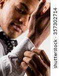 elegant black man on the... | Shutterstock . vector #357302714