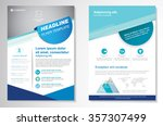 vector brochure flyer design... | Shutterstock .eps vector #357307499