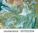 golden and green marbled... | Shutterstock . vector #357322334