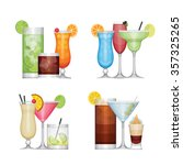 set of different alcohol... | Shutterstock .eps vector #357325265