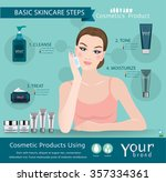 skincare products steps... | Shutterstock .eps vector #357334361