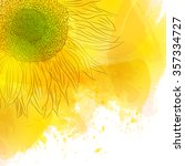 sunflower. bright sunny yellow... | Shutterstock .eps vector #357334727