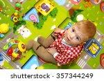 little boy with big blue eyes... | Shutterstock . vector #357344249