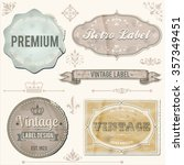 vintage labels and ornaments  ... | Shutterstock .eps vector #357349451