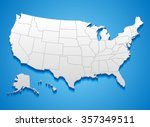 united states of america map  ... | Shutterstock .eps vector #357349511