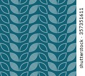 seamless tiled turquoise... | Shutterstock .eps vector #357351611