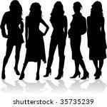fashion women 5 silhouettes...