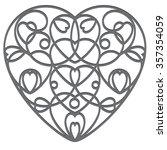 decorative wrought iron heart....   Shutterstock .eps vector #357354059