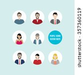 set of vector people icons.... | Shutterstock .eps vector #357360119