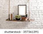 Brick Wall  Drift Wood Shelves...