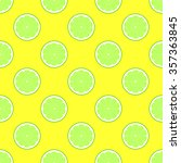 lime slices on yellow...   Shutterstock .eps vector #357363845