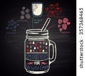 colored chalk drawn... | Shutterstock . vector #357368465
