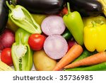 collection fruits and vegetables | Shutterstock . vector #35736985