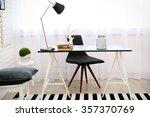 modern room interior in black... | Shutterstock . vector #357370769