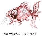 illustration fish aquatic sea... | Shutterstock . vector #357378641