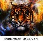 Portrait Tiger Face  Profile...