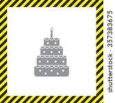 birthday cake web icon | Shutterstock .eps vector #357383675
