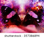 beautiful painting goddess...   Shutterstock . vector #357386894