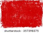 red grunge background texture.... | Shutterstock .eps vector #357398375