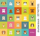 abstract cute dogs on a special ... | Shutterstock .eps vector #357407531