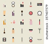 abstract makeup objects on a... | Shutterstock .eps vector #357407579