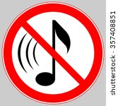 no sound  soundless  without... | Shutterstock .eps vector #357408851