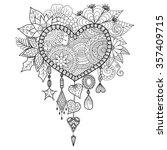 heart shape floral dream... | Shutterstock .eps vector #357409715