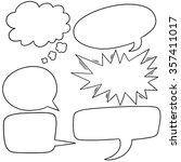 vector set of speech bubbles | Shutterstock .eps vector #357411017
