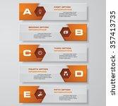 design clean number banners... | Shutterstock .eps vector #357413735