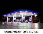 petrol station at night   copy... | Shutterstock . vector #357417731