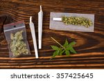 marijuana background. cannabis... | Shutterstock . vector #357425645