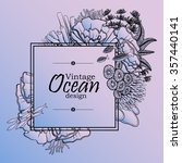 Vintage Graphic Card With Ocean ...