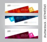vector design banner... | Shutterstock .eps vector #357445565