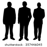 three standing man silhouette... | Shutterstock .eps vector #357446045