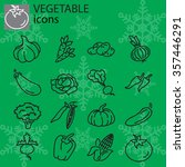 web icons set   vegetables | Shutterstock .eps vector #357446291