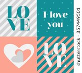 valentines day card | Shutterstock .eps vector #357449501