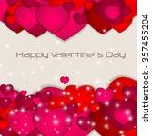 st valentine s  day greeting... | Shutterstock .eps vector #357455204